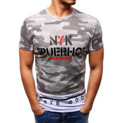 T-shirty męskie z nadrukiem: T-shirt męski z nadrukiem szary (rx2739)