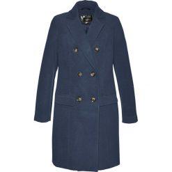 Płaszcz żakietowy bonprix ciemnoniebieski. Niebieskie płaszcze damskie pastelowe bonprix. Za 189,99 zł.