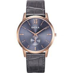 ZEGAREK DOXA Slim Line D155RBL. Niebieskie zegarki męskie DOXA, ze stali. Za 1900,00 zł.