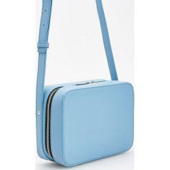 Kuferki damskie: Torebka typu kuferek - Niebieski