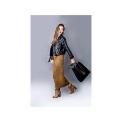 Pikowana torba. Czarne torebki klasyczne damskie marki drops, z bawełny, duże, pikowane. Za 130,00 zł.