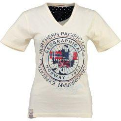 """T-shirty damskie: Koszulka """"Jashley"""" w kolorze żółtym"""