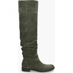 Kozaki oliwkowe Miranda. Zielone buty zimowe damskie Badura. Za 589,99 zł.