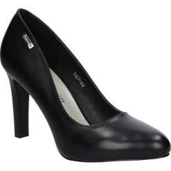Czółenka na słupku Sergio Leone 1457. Czarne buty ślubne damskie marki Sergio Leone. Za 98,99 zł.