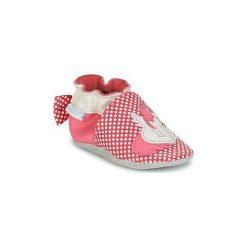 Kapcie niemowlęce Dziecko  Robeez  PINK UNICORN. Czerwone kapcie dziewczęce marki Robeez. Za 104,30 zł.