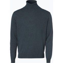 Golfy męskie: Andrew James – Sweter męski z dodatkiem kaszmiru, zielony