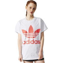 Adidas Koszulka damska  BIG TREFOIL TEE biała r. 40 (BR9827). Białe topy sportowe damskie Adidas. Za 150,06 zł.