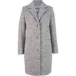 Płaszcz boucle bonprix jasnoszary melanż. Szare płaszcze damskie bonprix, melanż. Za 239,99 zł.