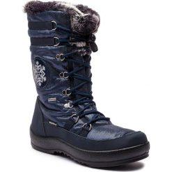Śniegowce MANITU - 991173 Blau 5. Niebieskie buty zimowe damskie Manitu, z materiału. Za 419,00 zł.