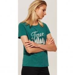 T-shirt z nadrukiem - Turkusowy. Niebieskie t-shirty damskie marki House, l, z nadrukiem. Za 29,99 zł.