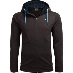 Bluza męska BLM607 - głęboka czerń - Outhorn. Czarne bluzy męskie rozpinane Outhorn, m. W wyprzedaży za 119,99 zł.