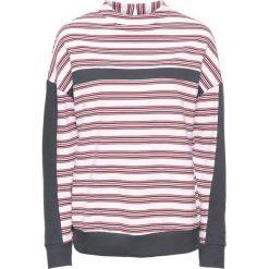 Bluza dresowa bonprix biało-czerwono-ciemnoniebieski w paski. Białe bluzy damskie bonprix, w paski, z dresówki. Za 49,99 zł.