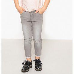 Dżinsy z frędzlami, krój skinny 3-12 lat. Szare jeansy dziewczęce La Redoute Collections, z bawełny, z standardowym stanem. Za 75,56 zł.