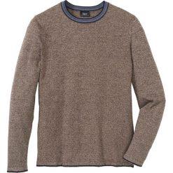 Sweter z bawełny z recylingu bonprix brązowy melanż. Brązowe swetry klasyczne męskie bonprix, l, melanż, z bawełny. Za 89,99 zł.