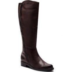 Oficerki CAPRICE - 9-25516-21 Dk Brn Barocco 332. Brązowe buty zimowe damskie Caprice, z materiału, na obcasie. W wyprzedaży za 399,00 zł.