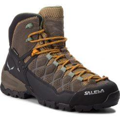 Trekkingi SALEWA - Alp Trainer Mid Gtx GORE-TEX 63433-7505 Walnut/Butterscotch. Brązowe buty trekkingowe damskie Salewa. W wyprzedaży za 759,00 zł.