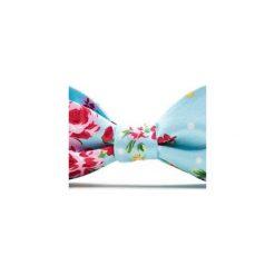 Mucha wiązana ROSES róże. Niebieskie muchy męskie HisOutfit, z materiału, wizytowe. Za 89,00 zł.
