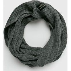 Jack & Jones - Komin. Czarne szaliki męskie marki Jack & Jones, l, z bawełny, z klasycznym kołnierzykiem, z długim rękawem. Za 89,90 zł.
