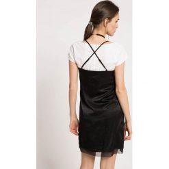 Answear - Sukienka. Szare sukienki mini marki ANSWEAR, na co dzień, l, z elastanu, casualowe, proste. W wyprzedaży za 49,90 zł.