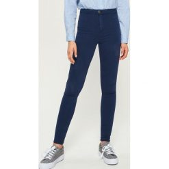 Rurki damskie: Spodnie skinny - Granatowy