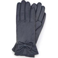 Rękawiczki damskie 39-6-550-GC. Niebieskie rękawiczki damskie marki Wittchen, z polaru. Za 99,00 zł.