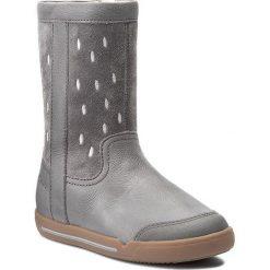 Kozaki dziewczęce: Kozaki CLARKS – LilfolkGlo Inf 261269726 Grey Leather