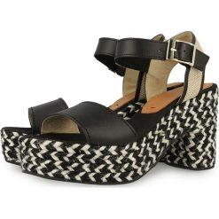 """Sandały damskie: Skórzane sandały """"Perissa"""" w kolorze czarnym"""