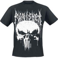 The Punisher Black Metal Skull T-Shirt czarny. Czarne t-shirty męskie z nadrukiem The Punisher, s, z okrągłym kołnierzem. Za 54,90 zł.