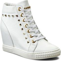 Sneakersy CARINII - B3028/P I81-000-000-B88. Białe sneakersy damskie marki Carinii, z materiału. W wyprzedaży za 259,00 zł.