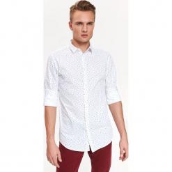 KOSZULA Z NADRUKIEM TALIOWANA. Szare koszule męskie marki House, l, z bawełny. Za 119,99 zł.