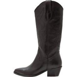 Topshop DEVIOUS Kowbojki i Buty motocyklowe black. Czarne buty zimowe damskie Topshop, z materiału. W wyprzedaży za 265,05 zł.