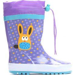 Fioletowe Kalosze Happy Bunny. Fioletowe kalosze dziewczęce marki Born2be. Za 59,99 zł.