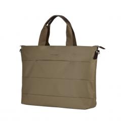 """Sumdex KCB-73 15"""" - 16"""" beżowa. Brązowe torby na laptopa marki Sumdex, z materiału. Za 99,00 zł."""