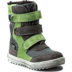 Buty zimowe chłopięce: Śniegowce MIDO – 366 Szaro Zielony
