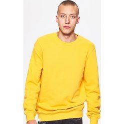 Gładka bluza BASIC - Żółty. Żółte bluzy męskie marki Cropp, l. Za 59,99 zł.