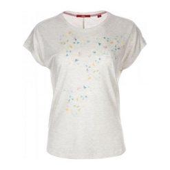 S.Oliver T-Shirt Damski 34 Kremowy. Białe t-shirty damskie S.Oliver, s, z nadrukiem. Za 59,00 zł.