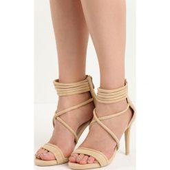 Beżowe Sandały Miss Independent. Brązowe sandały damskie marki Born2be, na wysokim obcasie. Za 89,99 zł.