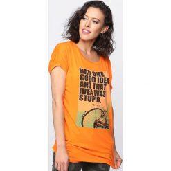 T-shirty damskie: Pomarańczowy T-shirt Had One