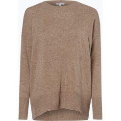Marie Lund - Damski sweter z wełny merino, beżowy. Brązowe swetry klasyczne damskie Marie Lund, m, z dzianiny. Za 249,95 zł.