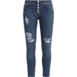 Free People DESTROYED REAGAN RAW Jeans Skinny Fit blue denim. Niebieskie rurki damskie Free People. Za 349,00 zł.