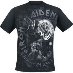 T-shirty męskie: Iron Maiden Number Of The Beast Grey Tone T-Shirt czarny