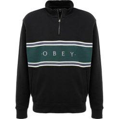 Bejsbolówki męskie: Obey Clothing PALISADE MOCK NECK ZIP Bluza black