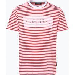 Calvin Klein - T-shirt męski – Jaksat, czerwony. Pomarańczowe t-shirty męskie marki Calvin Klein, l, z bawełny, z okrągłym kołnierzem. Za 279,95 zł.
