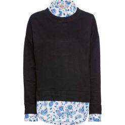 Bluza bawełniana 2 w 1 bonprix czarny. Czarne bluzy damskie bonprix, z bawełny. Za 89,99 zł.