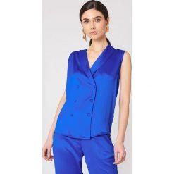 Rut&Circle Kamizelka Ginny - Blue. Niebieskie kamizelki damskie marki Rut&Circle, z poliesteru. W wyprzedaży za 97,17 zł.