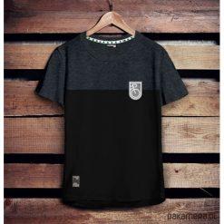 Koszulka męska - naszywka ROWER grafit/czarny. Czarne odzież rowerowa męska marki B'TWIN, m. Za 79,00 zł.