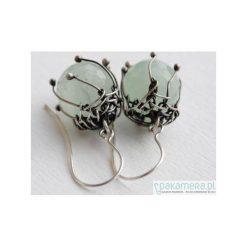 Kolczyki damskie: Kolczyki z zielonym kamieniem