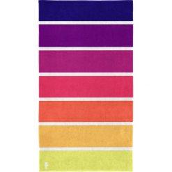 """Kąpielówki męskie: Ręcznik plażowy """"Marbella"""" w kolorze fioletowym ze wzorem"""