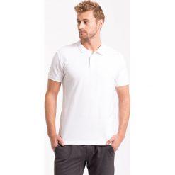 Koszulka polo męska TSM051AZ - BIAŁY - 4F. Białe koszulki polo marki 4f, na jesień, m, z bawełny. Za 69,99 zł.