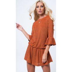 Sukienki: Sukienka odcinana ruda MP16146